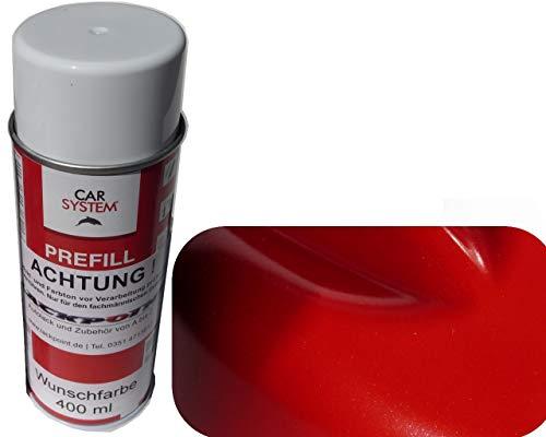 Spraydose 400ml 1K Autolack Flash Rot Metallic Glanz Kein Klarlack Tuning Trend