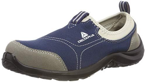 Deltaplus Unisex Safety Shoes mod Miami Plus S1P SRC super Light Hyper Flex Insole Memory Foam Adapt, Grau-Marineblau, 46 EU