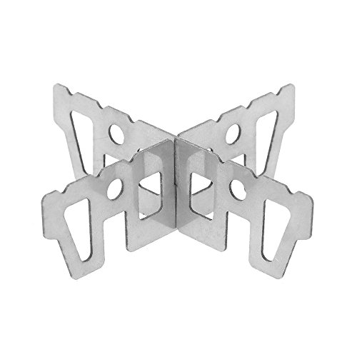 Soporte de titanio de hornillo de alcohol de Lixada, soporte en forma de cruz para minihornillo de combustión por líquidos, para acampadas y actividades al aire libre (70 ml)