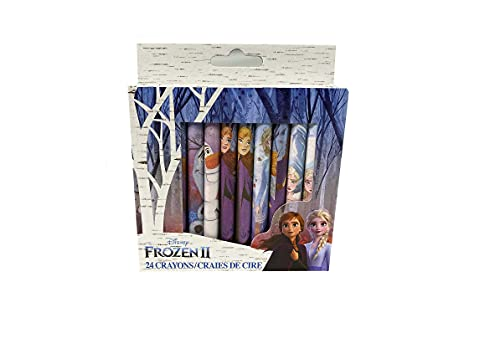 Frozen Princess Crayons - (24) Pack - Kid's School Supplies - Character Princess Crayons - Back to School Writing and Coloring