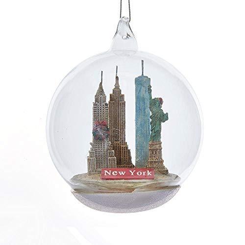 Kurt Adler 4 Inch New York City Landmark Glass Christmas Ornament