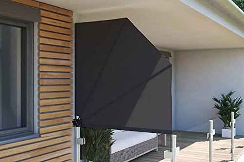 empasa Balkonfächer Sichtschutz Sonnenschutz Balkonsichtschutz Balkonmarkise Trennwand mit Wandhalterung, Verschiedene Größen und Farben