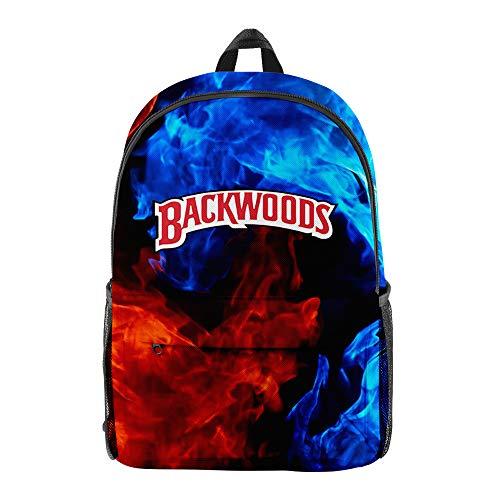 Backwoods Cigar Backpack Backwood Print Bag Laptop Shoulder School Bag Travel Bag for Boys Men Women