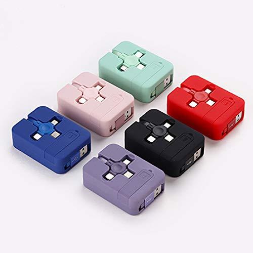 Soporte Para TeléFono Con Cable De Datos 3 En 1, Nuevo Cable De Carga Usb-C A Lightning De Nailon, Cable Cargador MúLtiple 3 En 1, Compatible Universal Con Tabletas (Pink)