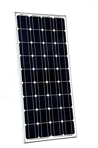 WATTSTUNDE WS160 Mono Solar 12V Solarmodul Solarpanel monokristallin für Camping Outdoor Wohnwagen Wohnmobil Vorverkabelt mit MC4 Steckern und IP68 Anschlussdose (160W)