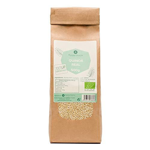 Planeta Huerto   Quinoa Real 100% Ecológica 500 gr   Producto Orgánico Con Alto Valor Nutricional en Proteínas, Vitaminas y Minerales   Alimentos Ecológicos, Biológicos, Saludables