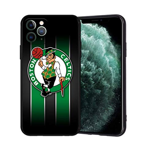 Phone Case for iPhone 11 Pro, Ultra-Thin Printed Acrylic Rear Panel Shockproof, with Soft TPU Bumper Military Cover for iPhone 11 Pro Only 5.8 inches (Celtics-Black)