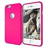 NALIA Funda Neon Compatible con iPhone 6 6S, Carcasa Protectora Movil Silicona Ultra-Fina Gel Bumper, Ligera Goma Cubierta Cobertura Delgado Telefono Cover Smart-Phone Case, Color:Pink Rosa