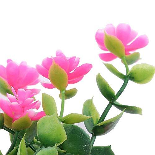 1 Bündel Künstlicher Plastik Blumenstrauß für Haupt Dekorations Pflanzenwand Garten Deko - 3