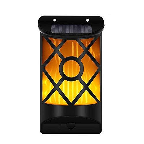YS&VV LED Solar Light vlam Lamp Outdoor Waterdichte Wandlamp, Tuin Landschap Decoratieve Lichten Lichtsensor Straat Lampen, Maat: 10x5x18cm