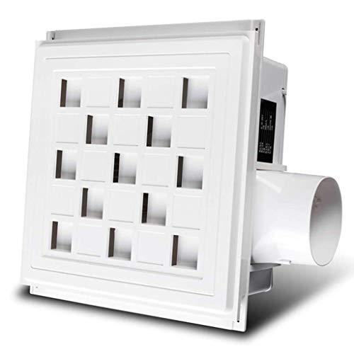 LXZDZ Muy tranquilo techo del baño Extintor de montaje en pared de escape pared Extractor ventana de cristal pequeño silencioso