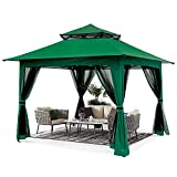 ABCCANOPY 13'x13' Gazebo Tent Outdoor Pop up Gazebo Canopy Shelter with Mosquito Netting (Green)