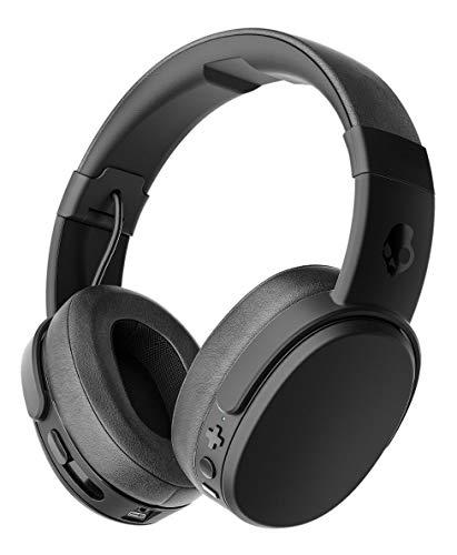 Skullcandy Crusher Bluetooth Kabelloser Over-Ear Kopfhörer mit Mikrofon, Geräuschunterdrückende Memory Foam, 40 Stunden Akkulaufzeit, Schwarz