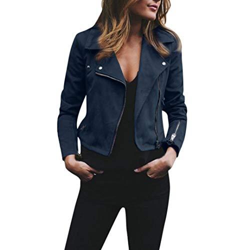 Overdose SeñOras para Mujer Retro Rivet Fresco Zipper Up Bomber Chaqueta De Moda Casual Outwear (Medium, a-Verde)