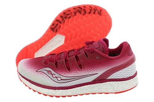 Saucony Damen Freiheit ISO Fitnessschuhe Laufschuh,Berry | White,7 B(M) US