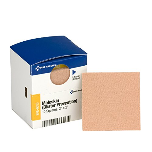 First Aid Only - FAE-6013 Pac-Kit by Moleskin Blister Prevention, 10 Count