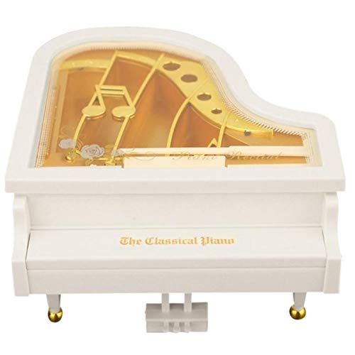 Nrpfell Piano Creativo Modelo Caja de MúSica Metal ntiguo Estuche Musical Regalo de Boda DecoracióN del Hogar Regalos de ?O Nuevo Cajas de MúSica: Amazon.es: Hogar