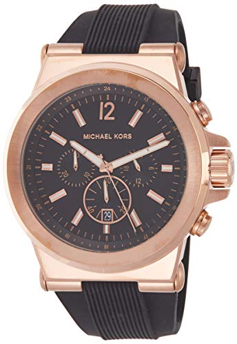 Michael Kors Rose Gold Men's Black Gold Tone Dylan Watch