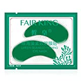 Rhfemd 2Pcs/Pair Green Seaweed Firming Eye Mask Anti Dark Circles Eyelid Patches Tighten Moisturizing Anti-Aging Fine Lines Pads Gel