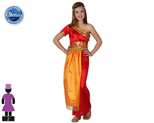 Atosa 8422259158400 - Disfraz hindu para niña, talla 104