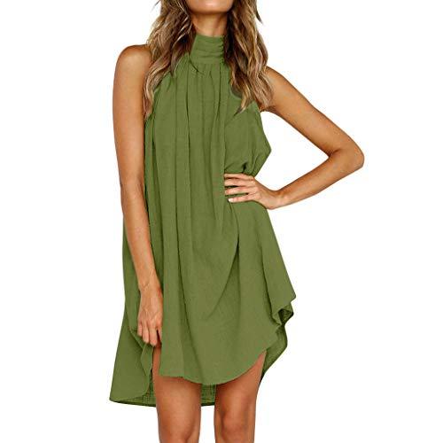 Tosonse Feiertags-Kleider Für Frauen Plus Größen-Sommer-Strand-Ärmelloses Normallack-T-Shirt Kleid