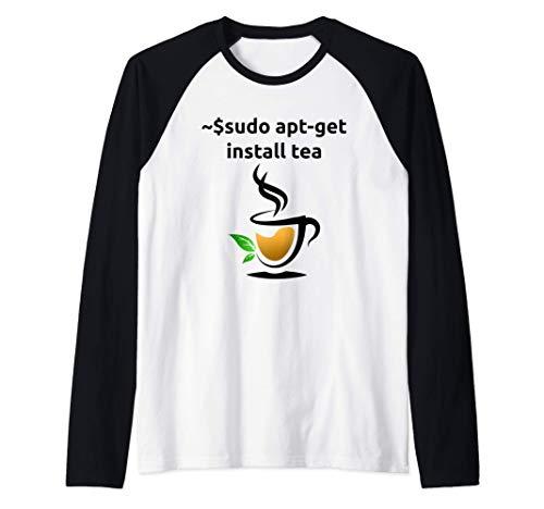 Linux sudo apt-get install Tee, Geek Nerd Geschenke Raglan
