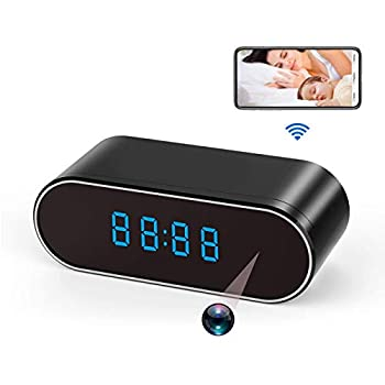Spy Camera WiFi Hidden Cameras Clock 1080P HD Wireless Nanny Cam with Night Vision,Motion Detection,140 Wide Angle for Office/Home Security