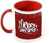 Divertente tazza da caffè in ceramica - Buon Natale con motivo a neve Art for Men / San Valentino / Compleanno / Bicchieri di Natale Bicchieri-modello-rosso5