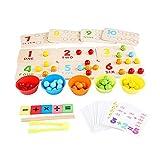 Oqqo Dot Bead Board Game Toy Rainbow Clip Bead Montessori Juguetes educativos Desarrollo de matemáticas contiene 50 cuentas con 5