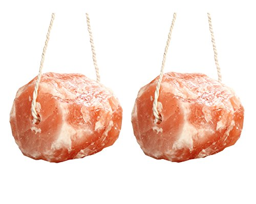 Pack of 2 High Nutrition Himalayan Pink Salt Animal Licks 6-9 lbs Crystal Rock for Horses, Cows Livestock