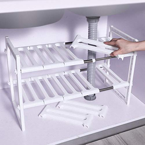 Rack Sink Rack Intrekbare vloer tot plafond panrek Meerlagige kast Opbergrek Keuken opbergrek