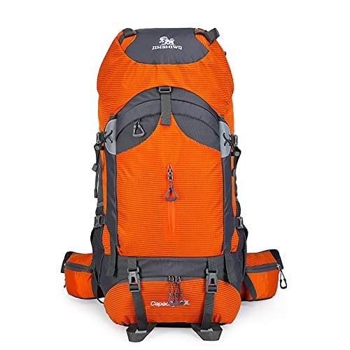 LZJDS Mochila de Gran Capacidad 60L Bolsa de Viaje Casual Sistema de Transporte Desmontable para Caminar Escalada,Naranja