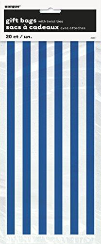 Cadeau Bleu Sacs avec Twist Ties – Lot de 20