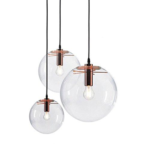 Mzstech Classic Glass Ball Lámpara colgante de vidrio Lámpara colgante creativa Lámpara de vidrio simple (30cm)