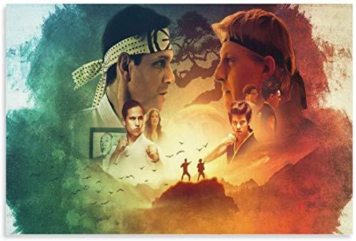 ZRRTTG Poster Und Gedruckte 60x90cm Cobra Kai Vintage Classic Film TV Bilder für Wohnkultur Leinwand Malerei Wandkunst Bilder Kein Rahmen