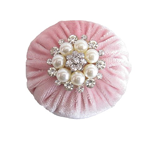 Best Deals! Nakpunar 2 Baby Pink Velvet Emery Sewing Pin Cushion - Filled with Emery Sand w/Rhinest...