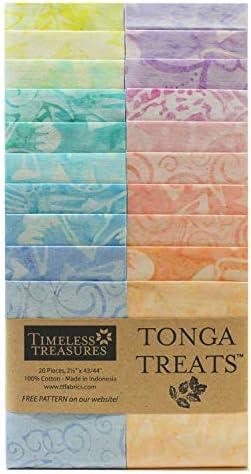 Timeless Treasures Tonga Treats Batiks 2 5 Strip Pack 20 Pcs Cupcake product image