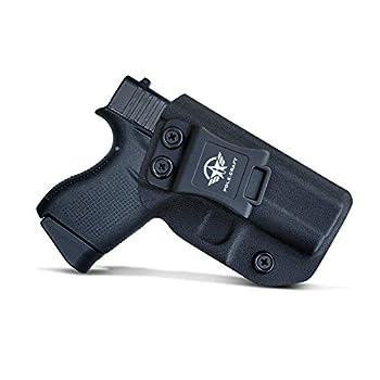 Glock 43 Holster Glock 43X Holster IWB Kydex Holster for Glock 43 / Glock 43X Pistol Concealed Carry - Inside Waistband Carry Concealed Holster Glock 43 IWB Kydex  Black Right Hand