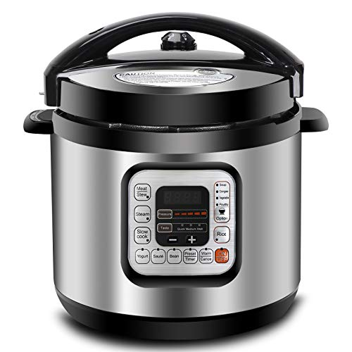 ZENY 6Qt 10-in-1 Multi-Use Pressure Cooker Programmable with Aluminium Alloy Pot, Rice Cooker, Slow Cooker, Yogurt Maker, Bean Cooker, Meat Stew, Sauté Steamer & Warmer