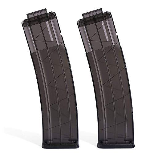 Clip Magazin für Nerf, 22-Dart Soft Bullets Clip Magazin, Schnell Nachladen Clip Schaumstoffspielzeug für N-Strike Series Blaster (Grey-2PCS)