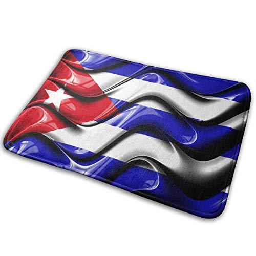 Love girl Bandera Cubana Símbolos Nacionales Alfombrilla Exterior de Goma Alfombrillas Delanteras Porche Garaje Alfombra de Entrada Antideslizante Alfombra estándar Hogar 60x40cm