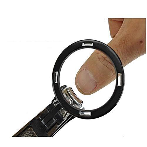 LIXHGJ Mini Lupa Portátil Portátil Alta Definición Clavo Abrazadera Clavo Cuchillo Anti Clip Carne Seguridad Tijeras Mapas Artesanía Lupa Negro