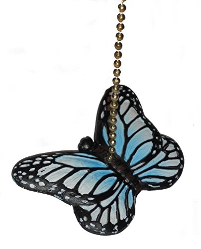Blue Butterfly Fan Pull Decorative Light Chain by Clementine...