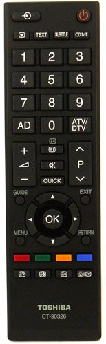 Fernbedienung für Toshiba 32HL933G LED TV - Mit Zwei 121AV AAA Batterien enthalten