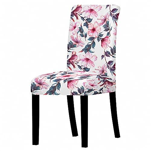 Morbuy 3D Floral Fundas para Sillas de Comedor, Fundas Protectoras para Sillas Lavable Extraíble Funda, Duradera Bouquet de la Boda, Hotel, Decor Restaurante (Flor Tropical,10 Piezas)