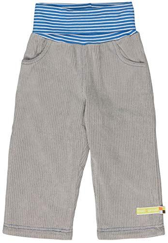 loud + proud Jungen Elastische Cord Bio Baumwolle, GOTS Zertifiziert Hose, Grau (Grey Gr), 92 (Herstellergröße: 86/92)