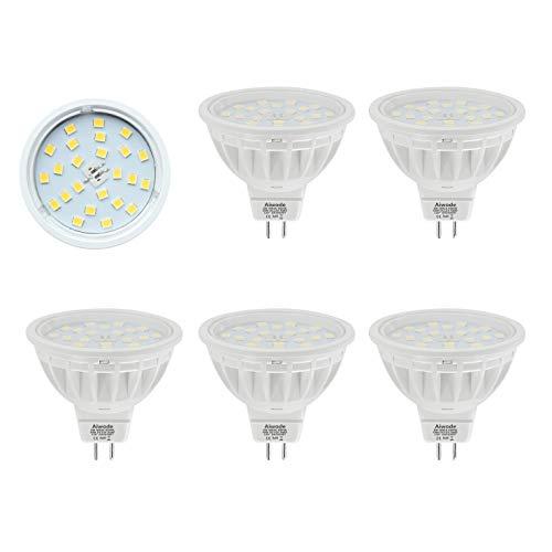Aiwode 5er Pack Dimmbar DC12V MR16 LED Lampe Gu5.3 Scheinwerfer,Ersetzt 50W Kaltes Weiß 6000K 600LM RA85 120°Abstrahlwinkel,kompatibel mit DC12V LED Treiber und 12V LED Dimmer.