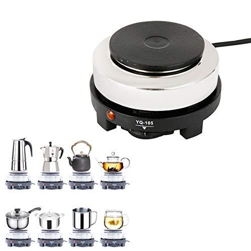 Mini Electric Stovetop for Espresso Maker Moka Pot Tea Pot & Cooking Stove for Camping, Dorm, RV