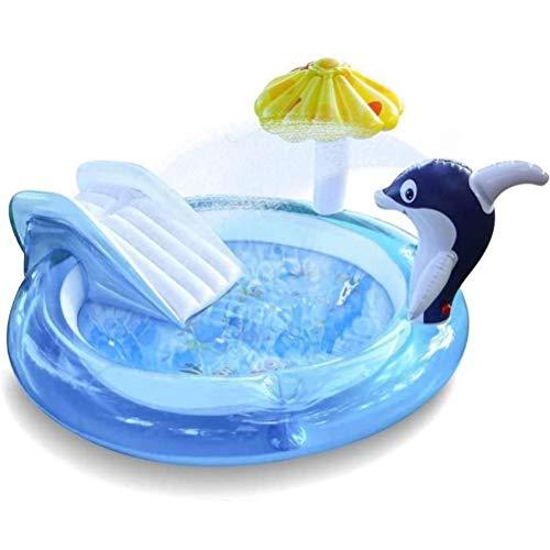 Smosyo Piscina Familiar Centro de Juegos para niños Piscina sobre el Suelo Piscina para niños Centro de Juegos Piscina para tobogán Piscina para bebés Ocean Ball Fácil de Construir, Azul