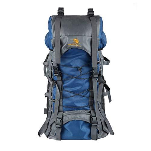 Toolsboy Senderismo Mochila, Deporte Camping Mochilas Impermeable al Aire Libre de Gran Capacidad con Cubierta de Lluvia,Blue